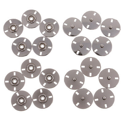 5 Sets Metal Buttons Snap Fastener Press Stud Popper Sew On Sewing Crafts 25mm