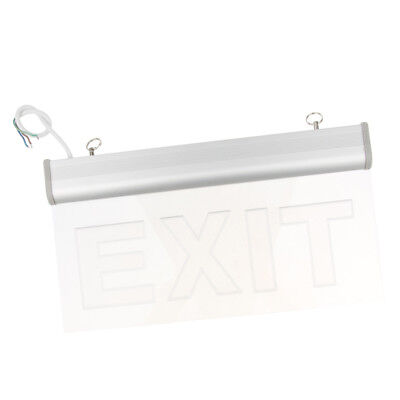 Edge Light Green LED Exit Cashier Sign - Rotating Panel - Battery Backup 3W