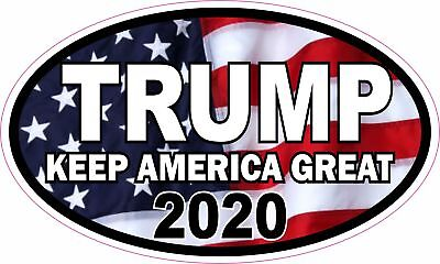 Donald Trump 2020 Keep America Great Oval Vinyl Sticker Decal