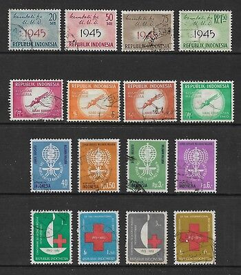 INDONESIA 1959 1960 1962 1963 x 4 sets, used