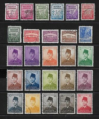 INDONESIA mixed collection, 1951 issues, used