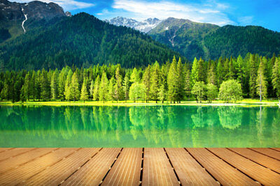 Canvas Wall Art Print Painting Mountains Lake Landscape Living Room Home Decor