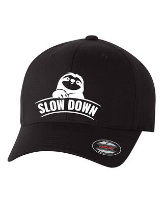 SLOTH Procrastinator MOTIVATOR  FLEXFIT HAT CURVED or FLAT CURVED BILL