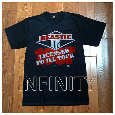 1987 Beastie Boys Licensed To Ill Tour Vintage T-Shirt Gildan Reprint S-Xxl