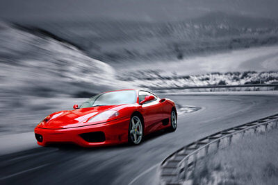 Print Painting Canvas Art Wall Red Sport Car Picture Bedroom Living Room Decor