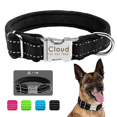Winter Warm Dog Collar Personalized ID Collar Tag Free Engraved Small Large Dogs