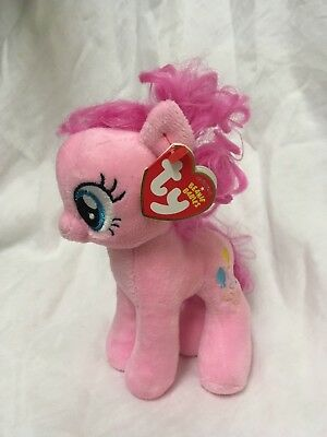 ae3da50afb1 Hasbro Ty My Little Pony Plush Beanie Baby Pinkie Pie - Great Condition!  Has Tag