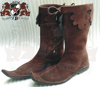 Antique fight shoes viking Roman Medieval Leather Boot Armor Footwear 11