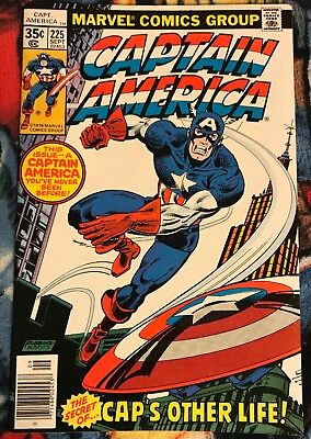 Marvel CAPTAIN AMERICA 225 VF- ***$3.98 UNLIMITED SHIPPING***