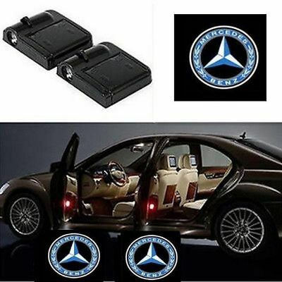 2Pcs For Mercedes-Benz LOGO Wireless Car LED Door Projector Ghost Shadow Lights
