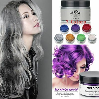 Hair Color Pomades MOFAJANG Wax Mud Dye Styling Cream Disposable DIY 7 Colors CA