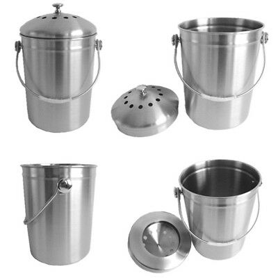 Large Capacity Stainless Steel Recycling Bucket Hotel Home Compost Bin Container
