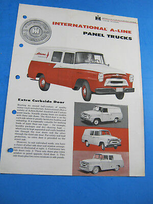 International A Line Panel Truck Ih Truck  Brochure Vintage  .