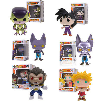 Funko Pop Dragon Ball Z Gohan Broly Vegeta Beerus Vinyl Action Figure in Box US