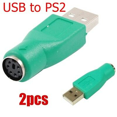 Plug PS 2 PC 2.0 Male USB to PS2 Female Mouse Keyboard Adapter Converter ue85