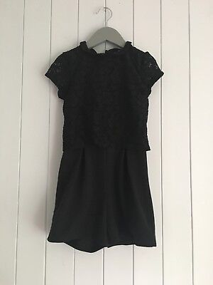 Girls smart jump suit  size 6-7 years black George