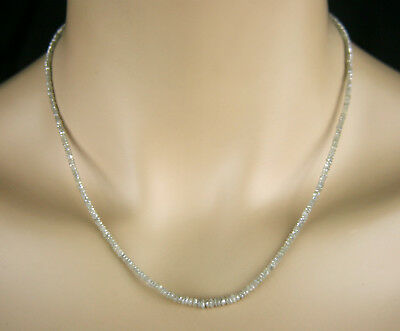 DIAMANT KETTE COLLIER Facettiert in weiß, 20,50ct.,incl. 925 Silber Vers.