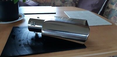 Stainless steel oval exhaust tip fits upto 60mm only selling as wrong size