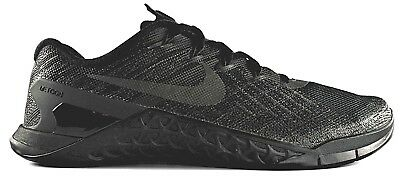 63615a4d41631 Nike Metcon 3 Training Shoes Triple Black 852928-002 Trainer Crossfit $130