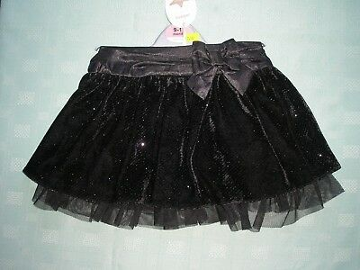 """Babies Black Sequined """"Adams Baby"""" Party Skirt Age 9-12 Months"""