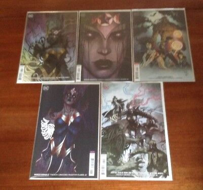 Wonder Woman(56, 57)/Justice League Dark (4) The Witching Hour Variant Set