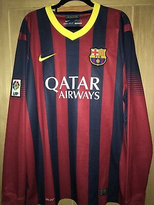 e235de47b Barcelona Spain 2013 2014 Home Football Shirt Jersey Camiseta Nike Messi  Era  10