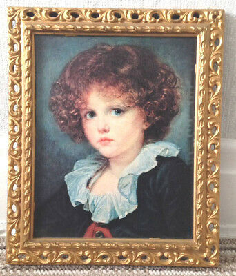 Vintage,  Fine Art,  Gold Coloured, Plastic Ornate Framed,  Picture Gallery Wall