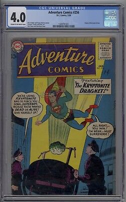 Adventure Comics # 256 CGC 4.0 VG Origin of Green Arrow 1959 Undervalued Key