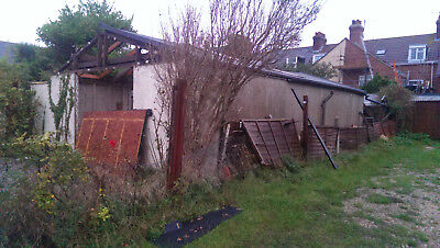 9 m x 5m Very Large Concrete Sectional Garage / Workshop Dismantled on Pallets