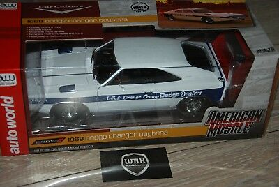 Dodge Charger Daytona 1969 American Muscle Autoworld 1:18 IN BOX