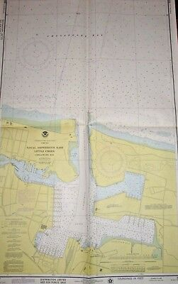 AMPHIB BASE, LITTLE CREEK, VA - 1976 Nautical Chart - Vintage U.S.Navy   (#1484)