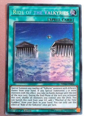 YUGIOH  Ride of the Valkyries SHVA EN006 Secret Rare 1st Edition