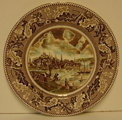 Johnson Brothers HISTORIC AMERICA (BROWN MULTICOLOR) Dinner Plate MORE AVAILABLE
