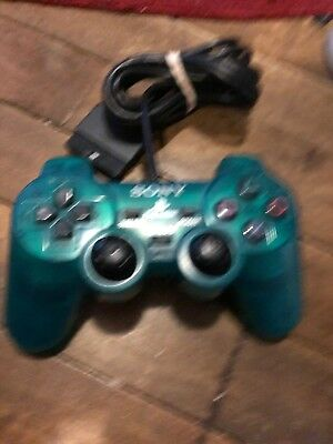 Official Sony Playstation 1 PSone Analog Controller Emerald Looks & Works Great