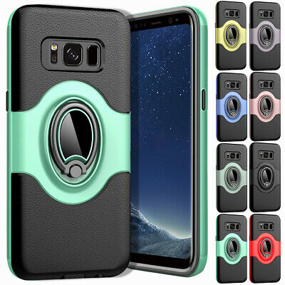 Protective Case For Samsung Galaxy S7 & Edge / S8 Plus Magnetic Ring Stand Cover