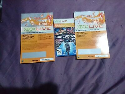 XBOX LIVE 48HR TRIAL GOLD MEMBERSHIP three codes