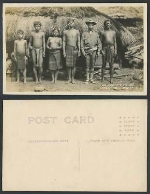 Philippines Old R Photo Postcard Igorrote Family Mountain Prov. Igorot Boy Scout