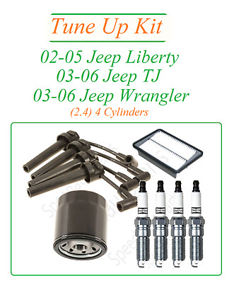 tune up for 02-06 jeep liberty tj wrangler 2 4l4 : spark plugs wire