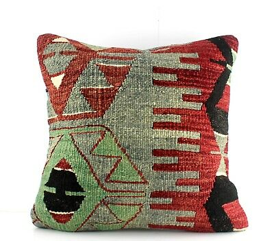 "kilim pillow Turkish handmade Kilim Rug Cushio Decorative Pillow 16"" Sofa Pillow"