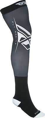 Fly Racing Knee Brace Socks Lg/XL Black/White #350-0440L