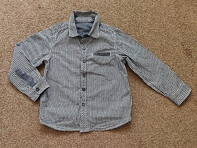 Mothercare Boys Smart Checked Long Sleeve Shirt Age 5-6 Years