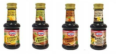 Dr Oetker 30Ml Bake Extract 100% Natural Aroma - 4 Flavours - Almond - Vanilla