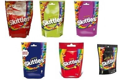 SKITTLES 174G - 5 Flavours Darkside Sour Berry Tropical Chewy Candy Candies  Mix