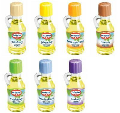 PACK OF 5 / 10 DR OETKER BAKING EXTRACT COOKING AROMA OIL 10x9ML - 9 FLAVOURS