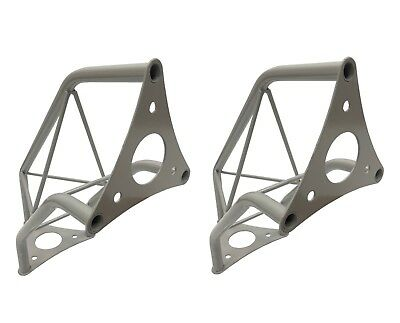 """(2) Two Silver Metal Corners Mini 6"""" Bolted Triangle Trusses DJ Lighting Arch"""
