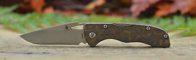 Kizer 3306 Folding Knife Rainbow Anodized Titanium Handle Aus8 Stainless