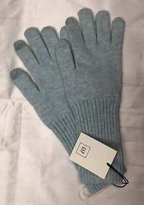 Gap Women's Gloves Wool Touch Screen Turquoise Blue One Size