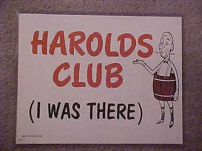 "Harolds Club Casino Reno ""harold's Club (I Was There)"" Sign"