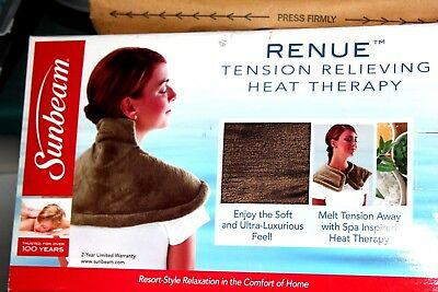 Sunbeam Renue Tension Relieving Heat Therapy ~ Brown
