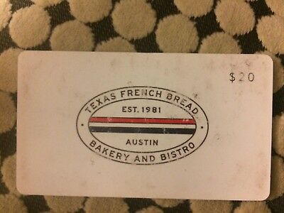 $20 Texas French Bread Gift Card